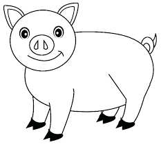 Pig Color Page Pig Coloring Pages Free Printable For Kids Enjoy