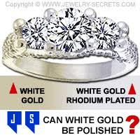 can you polish white gold jewelry