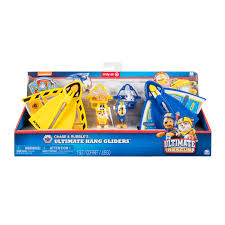 paw patrol ultimate rescue chase rubble s ultimate hang gliders figure set walmart