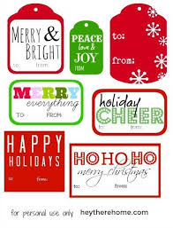 These christmas gift tags can be printed on card stock or full sheet label paper to make them adhesive. Lots Of Free Printable Christmas Gift Tags