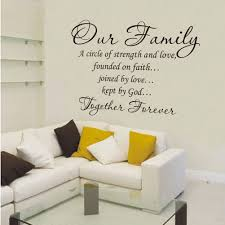 our family together forever vinyl lettering wall art words es decor decals lovely wall art decor es