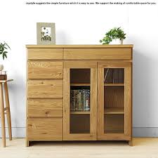 width 90 cm section of oak materials using oak solid wood natural wood glass doors movable shelf simple modern design side cabinet sideboard chest ornament