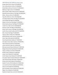 Dean's List for Spring Quarter 2005