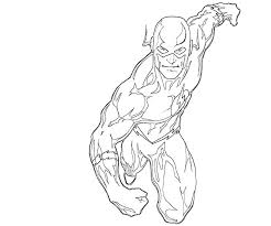 Flash Is Running Free Coloring Page Kids Superheros Coloring Pages