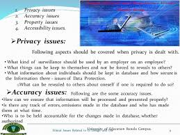 ethical issues related to information system design and use ethical issues related to is design and use 8 9 1