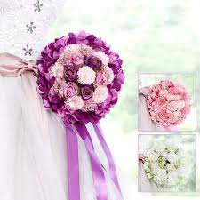 2017 pink purple green wedding bouquet handmade artificial flower