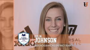 Julia Johnson named to CoSIDA All-District Team | University of Jamestown  Athletics Athletics