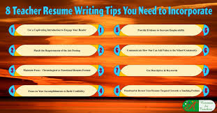 Resume Writing Tips Cool 28 Teacher Resume Writing Tips You Need To Incorporate