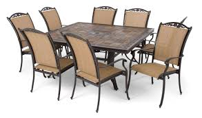 furniture breathtaking stone table top patio furniture 15 outdoor bellagiod 64sqstone9p lamont manufacturers set dining faux