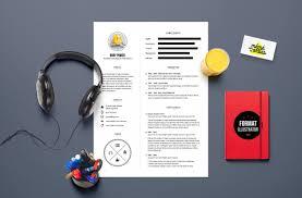 Cv Power Resume Template Illustrator By Mémédanslesorties