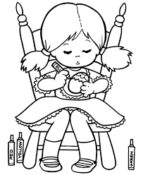 Small Picture Cute Little Girl And Valentine Heart Coloring Page Girls