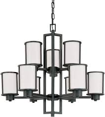 nuvo 60 2979 odeon 9 light 30 inch aged