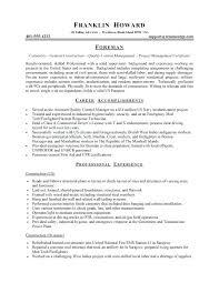 Carpenter Resume Examples Finish Carpenter Resume Sample Carpenter