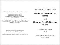 44 Wedding Program Templates Free Download