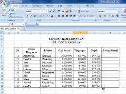 Soal excel laporan penggajian pegawai pt. Cara Membuat Laporan Gaji Pada Excel