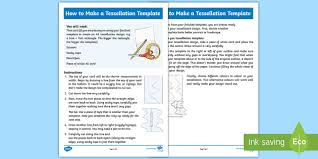 Step By Step Instruction Template How To Make A Tessellation Template Step By Step Instructions