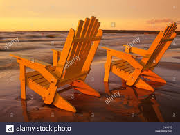 adirondack chairs on beach sunset. Plain Chairs Adirondack Chairs On Beach Grand Beach Provincial Park Manitoba Canada   Stock Image With Chairs On Sunset