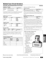 contents siemens molded case circuit breakers