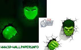 marvel 3d fx deco light of hulk