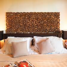 wood headboard boho home