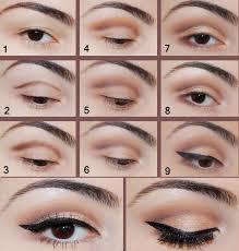 wing light brown eye makeup tutorial