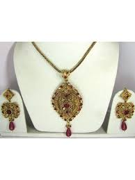 pendant earrings gold plated jewelry set zoom bollywood