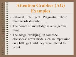 writing the response to literature rtl essay ppt  7 attention grabber ag examples