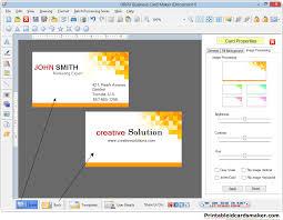 Business Cards Maker Software Designs Printable Visiting Cards