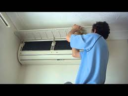 How To Service An Air Conditioner How To Clean And Sanitize An Airconditioner Youtube