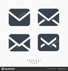 Material Design Email Icon Email Message Material Design Line Vector Icon Stock