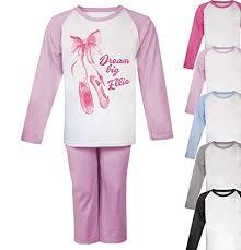 Personalised <b>Dream Big</b> Ballet <b>Pyjamas</b> Toddler <b>Pyjamas</b> Girls <b>Pjs</b> ...