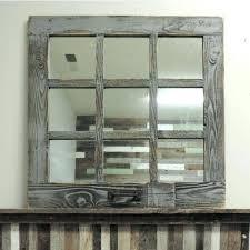 rustic window pane mirror window mirror decor