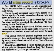 Sit Up World Records
