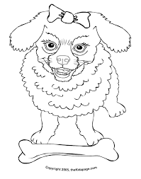 Small Picture Poodle Coloring Pages For Kids Coloring Home