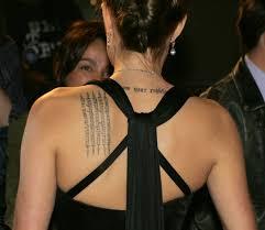 татуировки анджелины джоли фото и значения тату анджелины джоли
