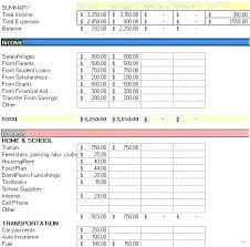 Budget For Young Adults Budget Template For Young Adults Free Templates In Excel