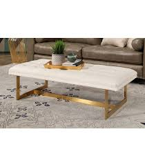 lucy tufted leather bench white tufted leather bench53