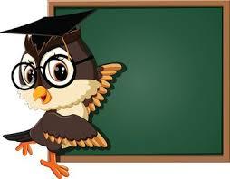 Owl Teacher At Blackboard Stock Vectors 365psd Com