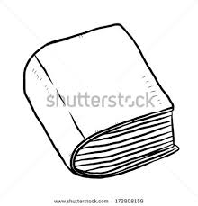 thick book cartoon vector and ilration black and white hand drawn sketch