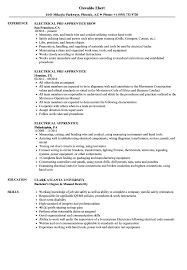 Electrician Apprentice Resume Samples Electrical Apprentice Resume Samples Velvet Jobs