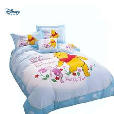 the pooh bear bed cover light blue disney winnie bedding set single twin full queen size