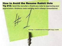 Resume Rabbit How To Avoid The Resume Rabbit Hole Top 100 Tips Endeavoring 61