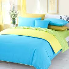 blue and yellow check duvet cover 3pieces color green yellow blue solid duvet covers blue and