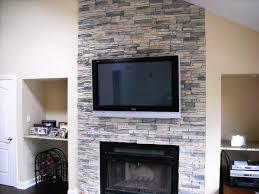image of stone veneer fireplace surround