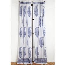 malabar large paisley curtain deep blue