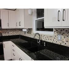 Affordable Kitchen Backsplash Shop 12x12 Roman Collection Desert Tan Square Mosaic In A Blend Of