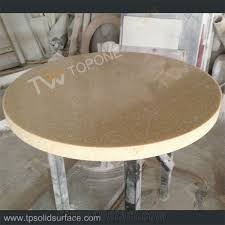 tops for dinner tables corian acrylic solid surface round coffee tables furniture manmade stone round tables for restaurant with chinese manufacturer