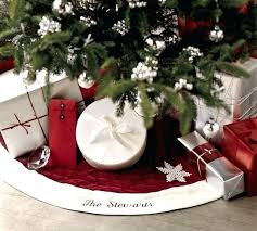 red velvet tree skirt with ivory cuff saved view larger roll over95