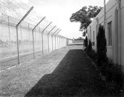 images of black and white barbed wire prison fence wire diagram florida memory view showing part of prison building and barbed