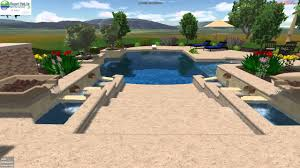beach entry swimming pool designs. Vineyard Pools 3D Design - Hillside Beach Entry Pool With Falling Fountains YouTube Swimming Designs